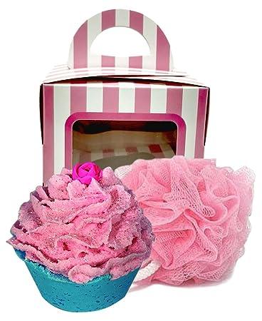 Amazon.com: Feliz cumpleaños Bomba de Baño Cupcake con rosa ...