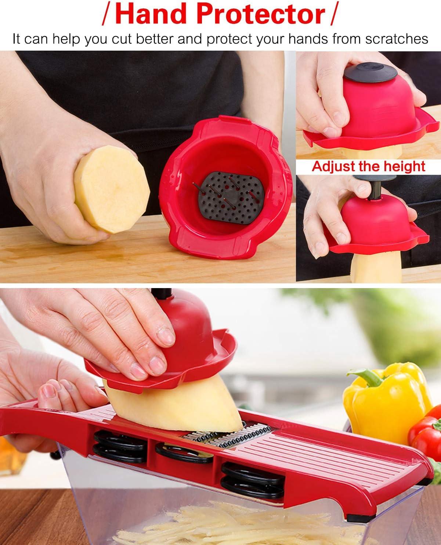6 in 1 Mandoline Slicer Multi-Function Fruit Veg Cutter for Potato Tomato Onion