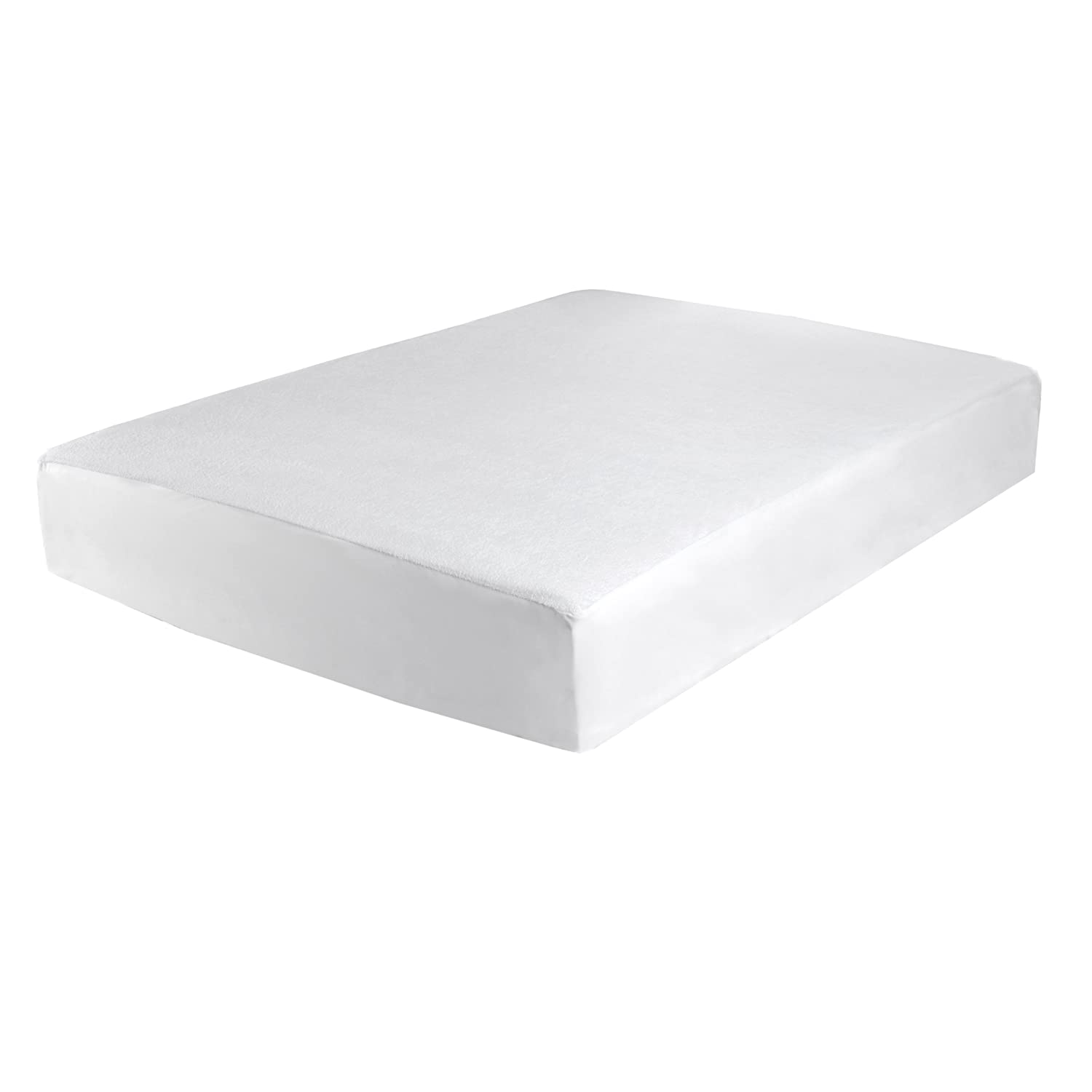 Levinsohn Terry Top Waterproof Mattress Protector, Twin X-Large FRE-149-XX-WHIT-06