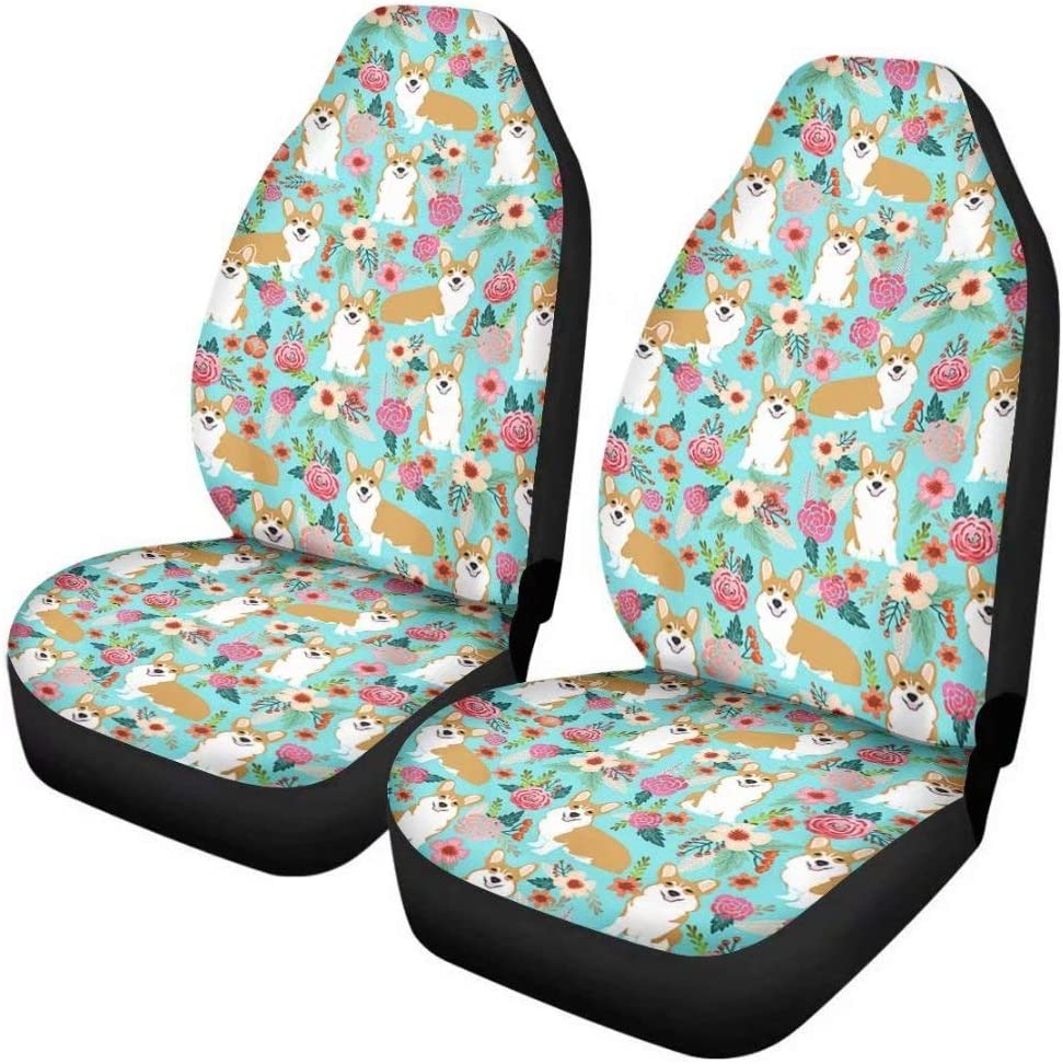 Deeprinter Front Seat Covers Cars Interior Seats Protector Purple Butterfly Universal Fit Vehicle Truck SUV Van 2 Pcs