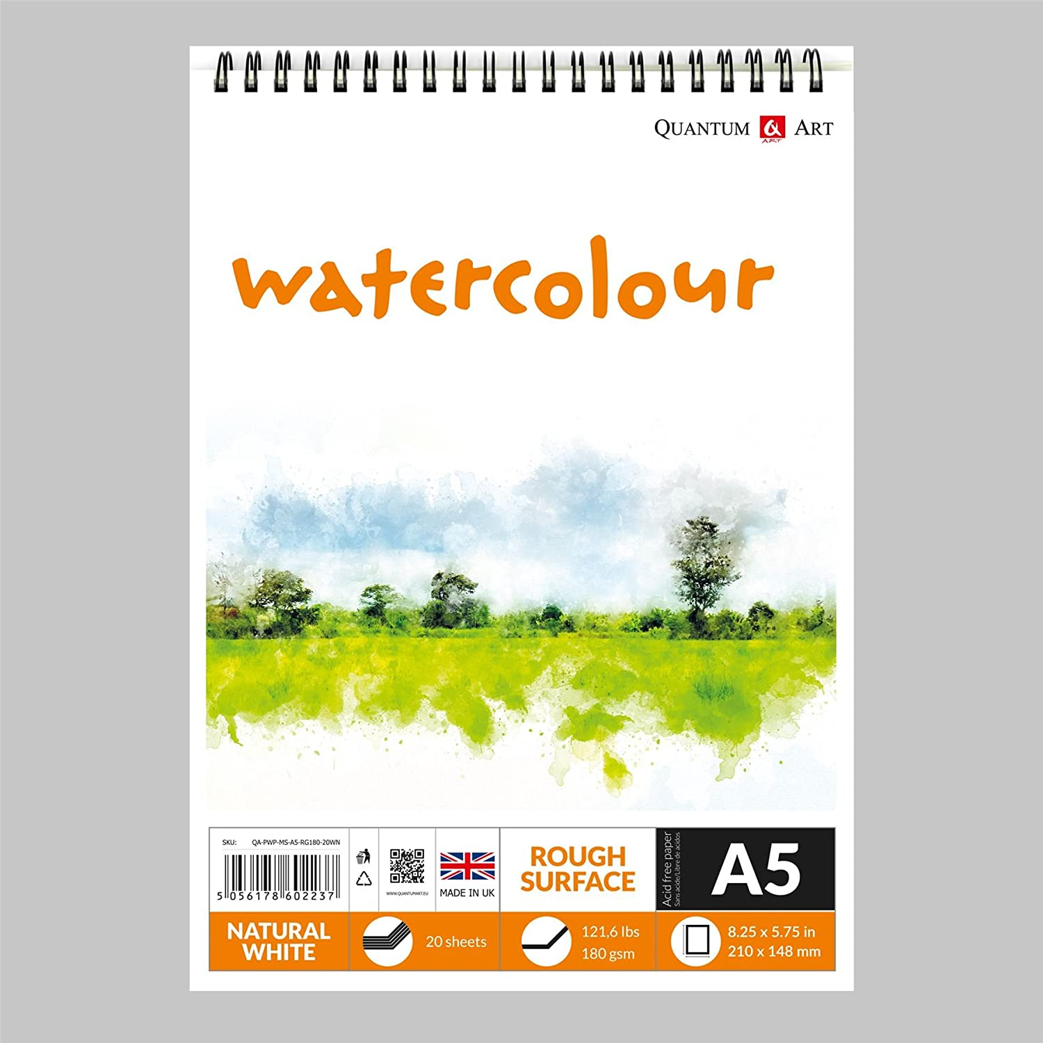 Watercolour Rough Surface Pad Drawing Artist Paper on Spiral Book 180gsm A3-420x297 mm