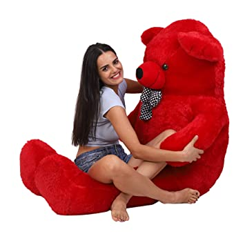 OSJS Jms Toys Stuffed Teddy Bear (Red, 3 Feet)