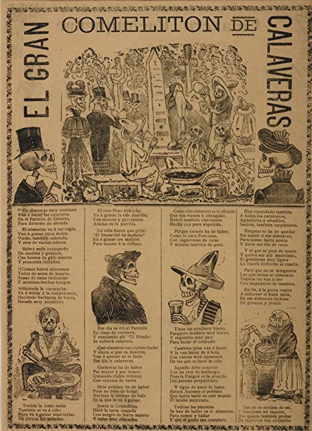 Berkin Arts Jose Guadalupe Posada Giclee Canvas Print Paintings Poster Reproduction(The Great Feast of