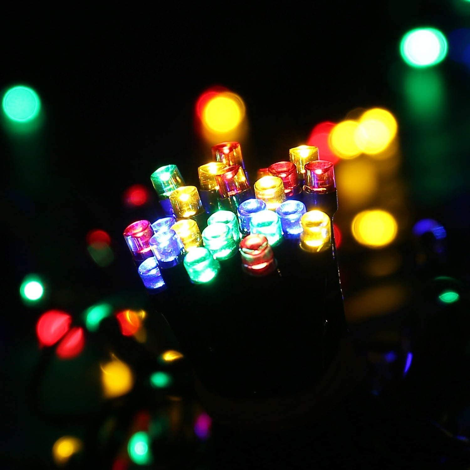 Joomer Solar LED String Lights 72ft 200 LED 8 Modes Solar Powered Xmas Outdoor Lights Waterproof Starry Christmas Fairy Lights for Indoor Gardens Homes Wedding Holiday Party Blue