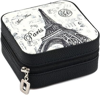 lilyjewelry Torre Eiffel Organizador de Joyería Caja de almacenamiento estuche de viaje para anillos pendientes collar pulsera joyero cajas: Amazon.es: Joyería