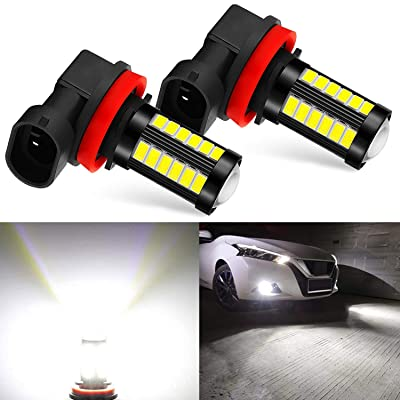 JDM ASTAR Bright White Output 5730 33-SMD H11 H8 H16 High Power Super Bright 360 Beam Led Fog Light Bulbs With Projector: Automotive