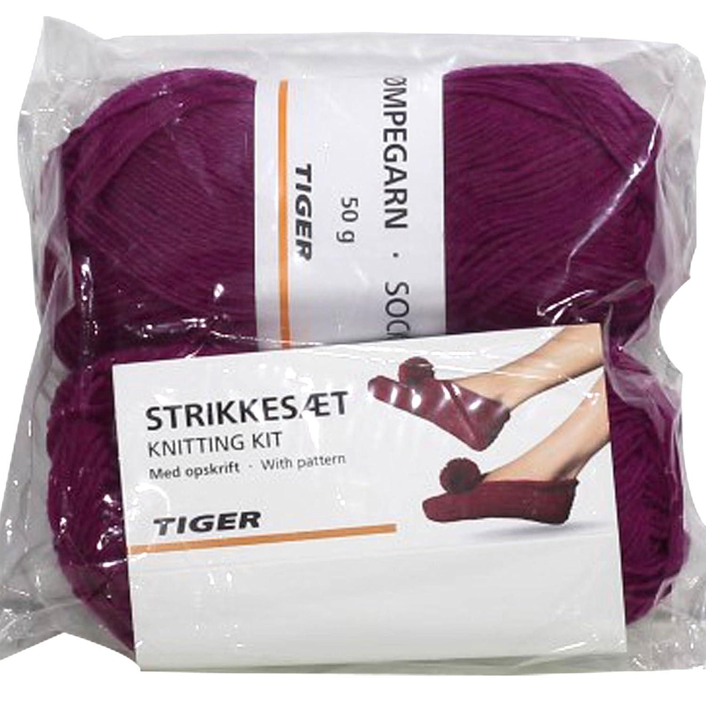 Nueva 2 madejas lana calcetines Zapatillas Patrón para tejer ...
