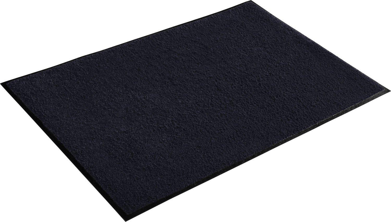 Wash+dry Fußmatte schwarz Größe 75x150 cm