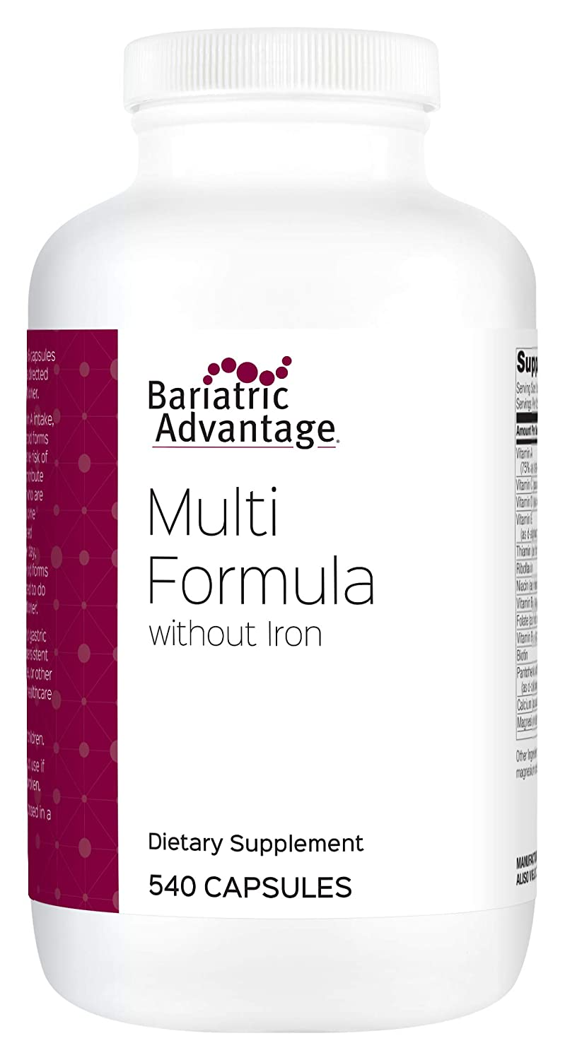 Bariatric Advantage – Multi-Formula Capsules Without Iron, 540 Count