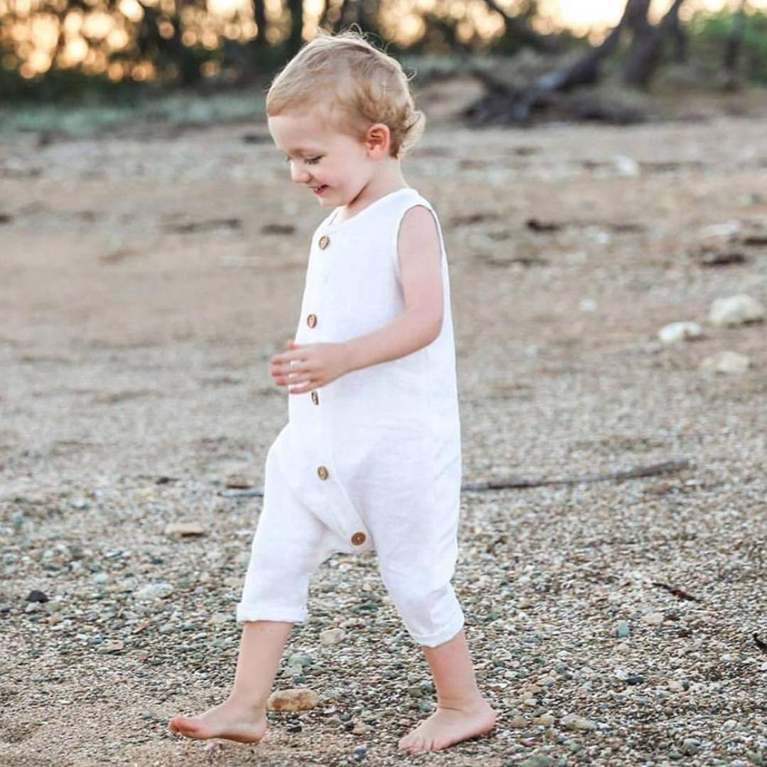 Hongyuangl Baby Boy Romper Long Sleeve Jumpsuit Letter Printing Bodysuit Cotton Pajamas 0-24 Months