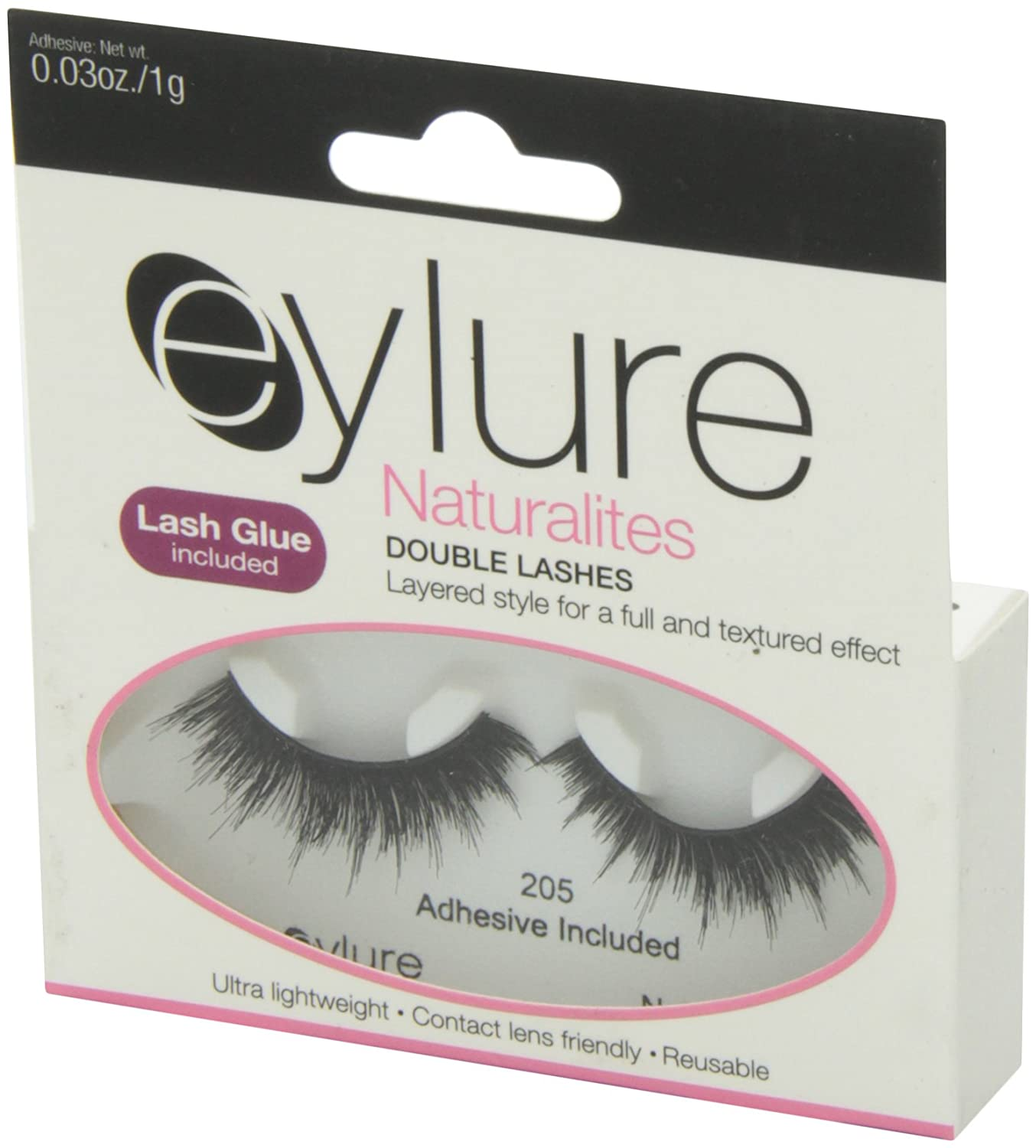 cc6d1b7ee55 Amazon.com : Eylure Naturalites Double Lashes, 205, 18.14 Gram : Fake  Eyelashes And Adhesives : Beauty
