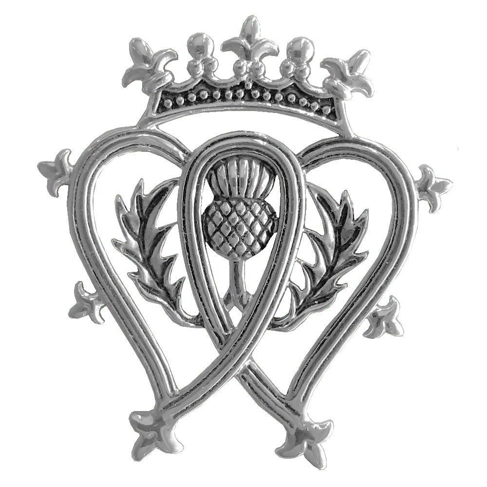 Luckenbooth Double Hearts and Thistle