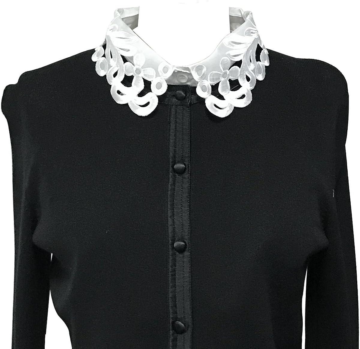 Wrapables Daisy Doily Lace Collar Half Shirt