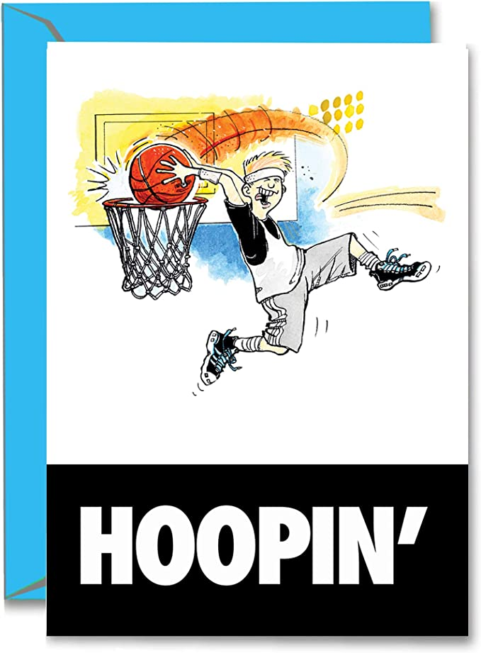 Amazon Com Basketball Birthday Dunkin Power Player Birthday Card 1 Pack 5x7 Illustrated Sports Birthday Greeting Card Awesome For Players Coaches And Fans Birthdays Gifts They Ll Love Em Sports