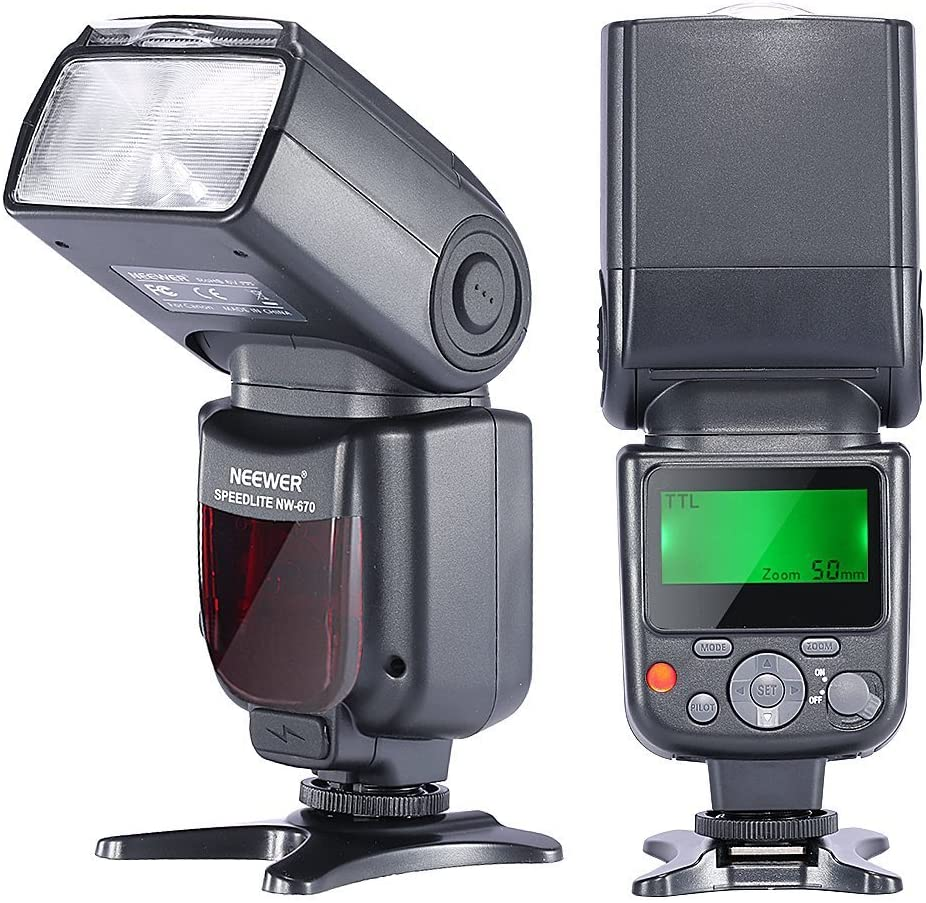 Neewer 2pcs NW-562 GN58 E-TTL Master Slave Flash Speedlite for Canon