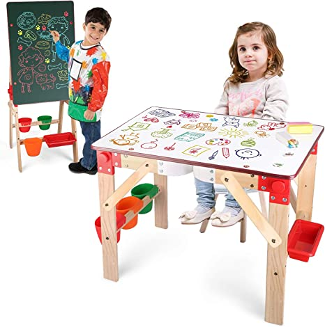 Tabletop Easels for Painting Double Sided Kids Art Easels Toddler Double Sided Easel-Learning Table for Toddlers