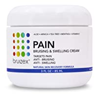 BRUIZEX Pain, Bruise and Swelling Cream, 3 oz. | Bruise Removal Cream with Soothing Arnica Gel and Cooling Menthol | Relief for Skin Bruises, Swelling After Trauma, and Back, Knee, Neck and Joint Pain