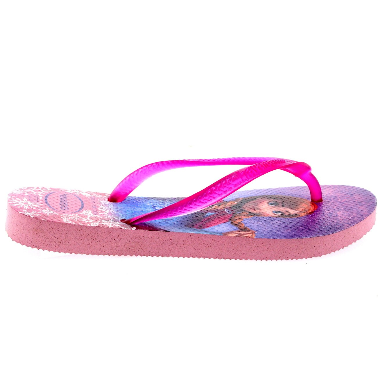 Kids Girls Havianas Frozen Elsa Beach Anna Crystal Rose Flip Flop Sandals