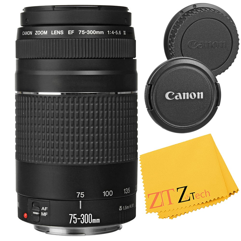 Canon EF 75-300mm f/4-5.6 III Telephoto Zoom Lens for Canon EOS Rebel T5 by ZeeTech