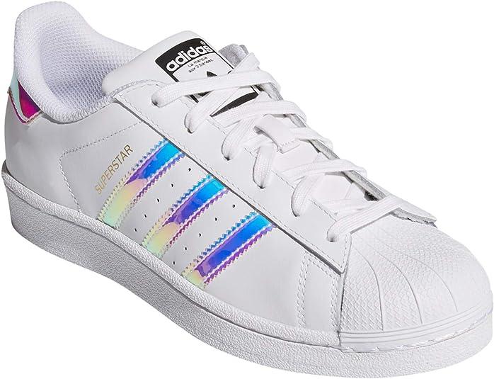 adidas Superstar, Sneakers Basses Femme.g0 (38 EU, blacIris1g0Pr)