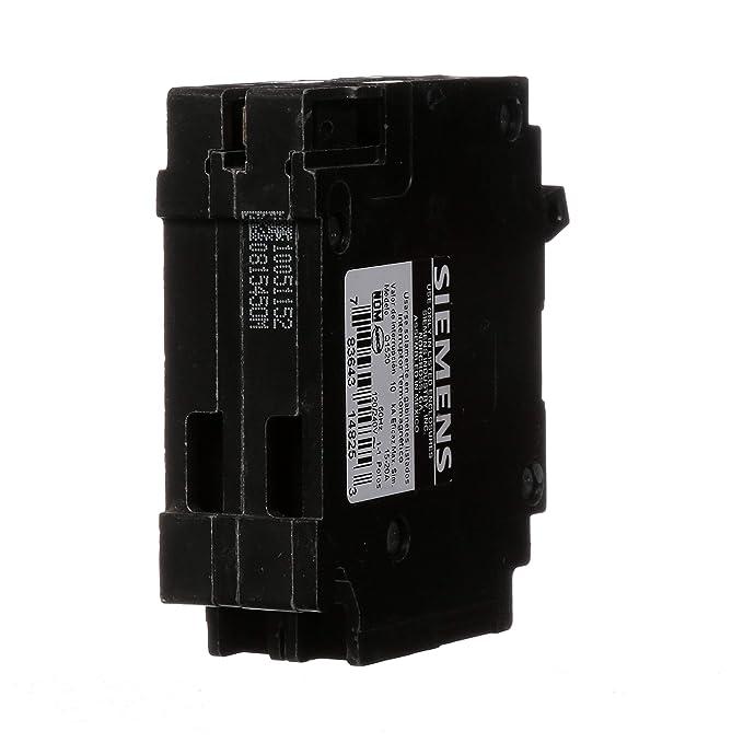 Amazon.com: Siemens Q1520 Uno 15-amp y uno 20-Amp Single ...