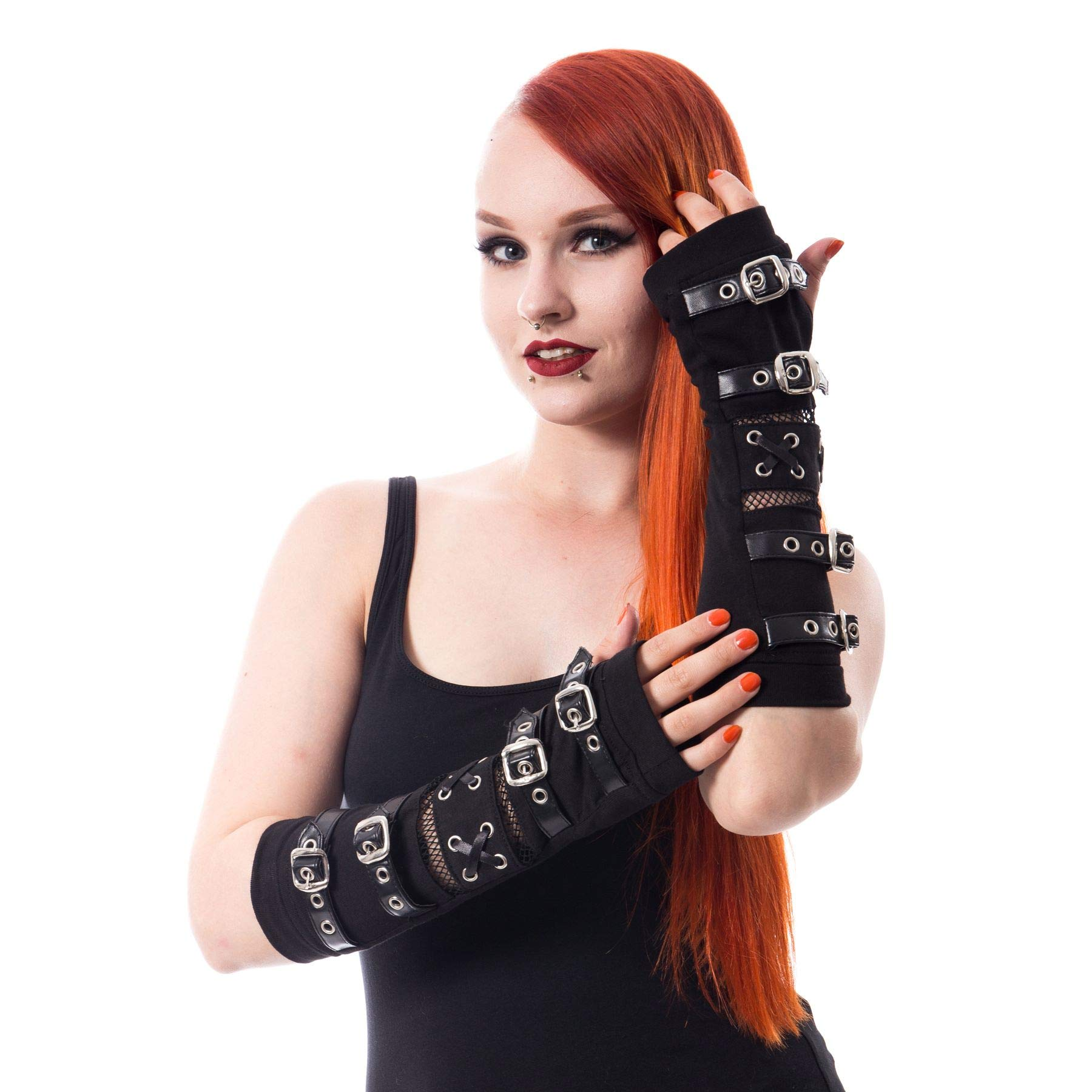 RIOT ARMWARMERS - Gothic Buckle Armwarmers