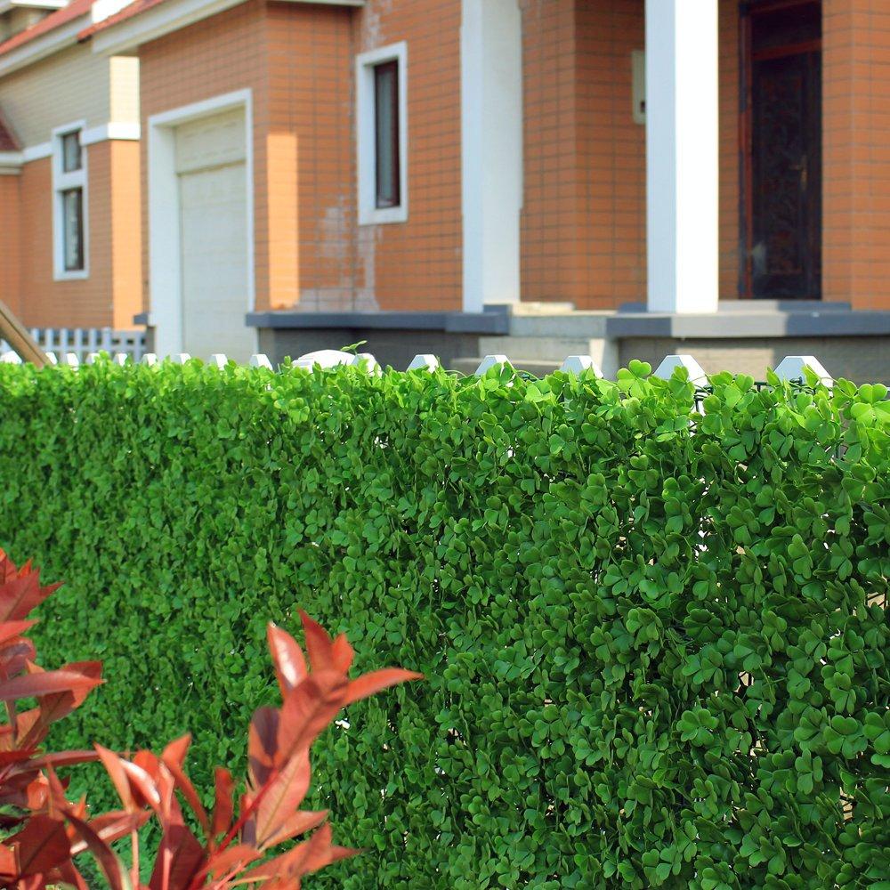 Uland 6pcs 50 8 x 50 8 cm UV Grün Garten Sichtschutz Zaun