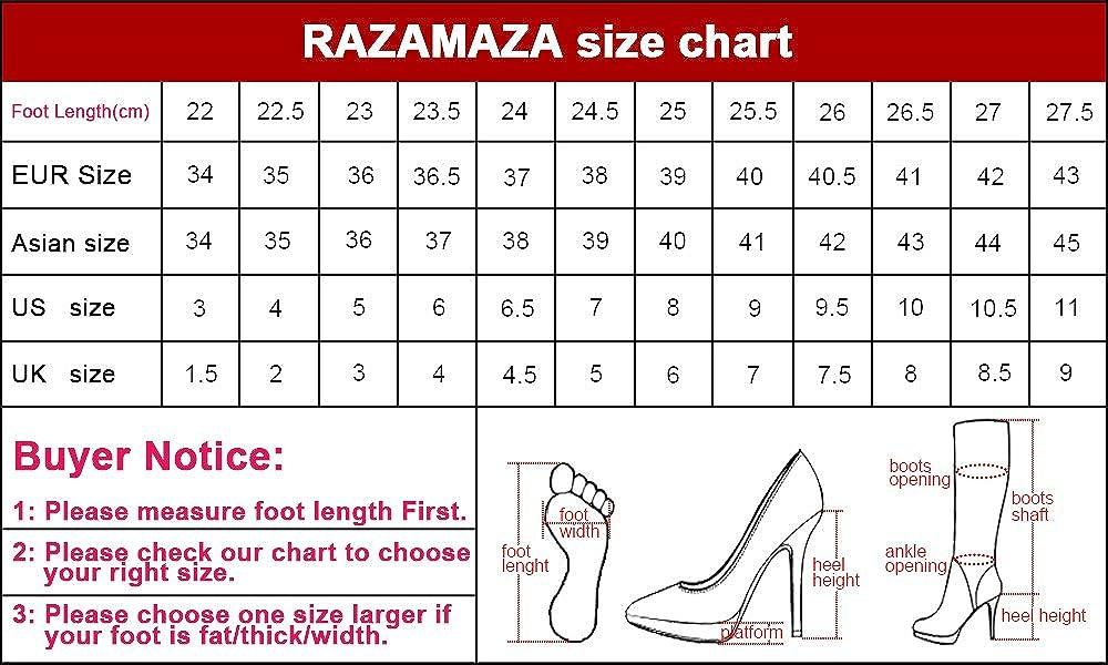 RAZAMAZA Damen Sandalen Pnatoletten Absatz Sandalen Damen Schuhe schwarz ff48b1