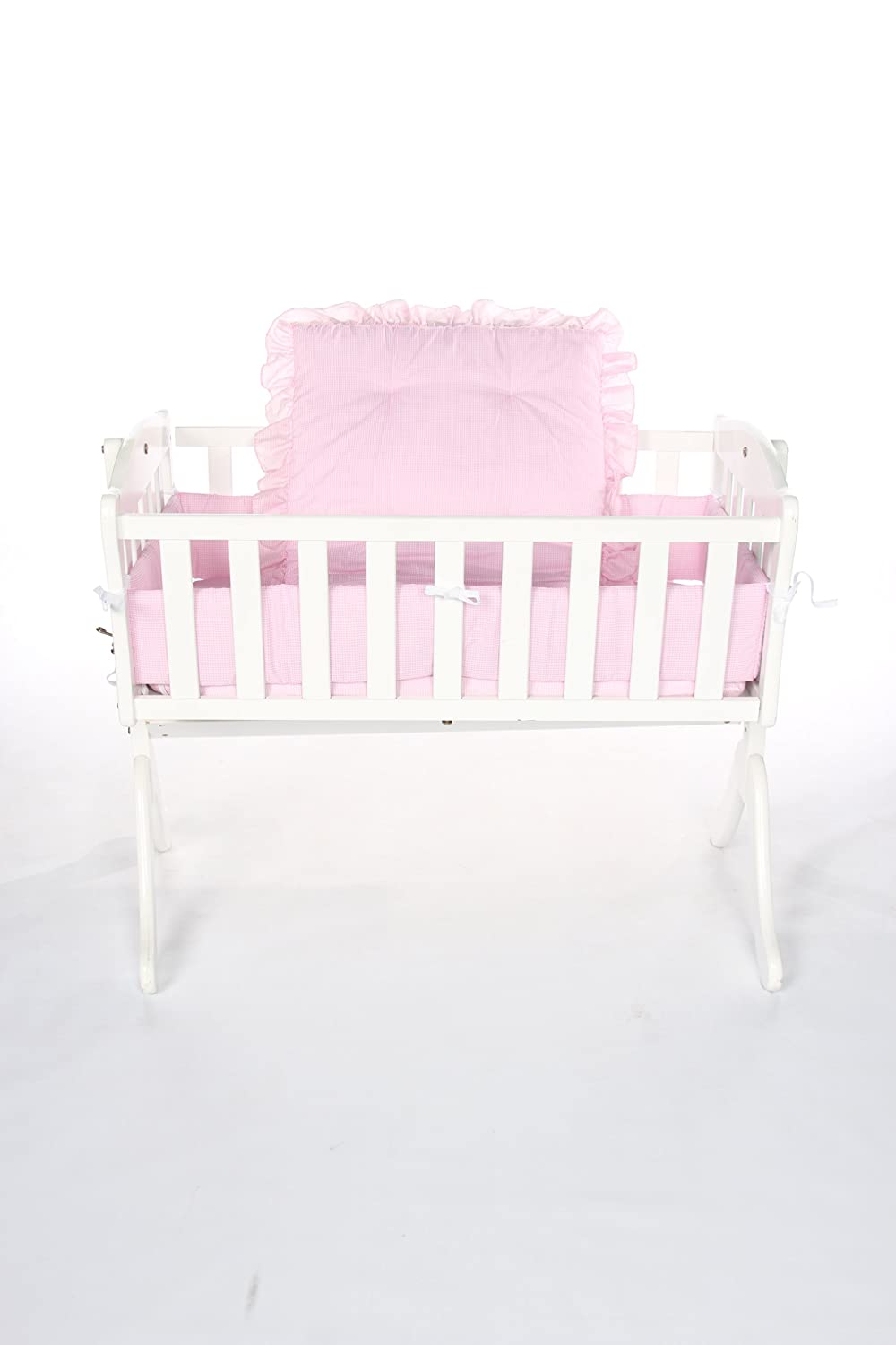 Baby Doll Bedding Gingham Cradle Set, Mint 405cr36