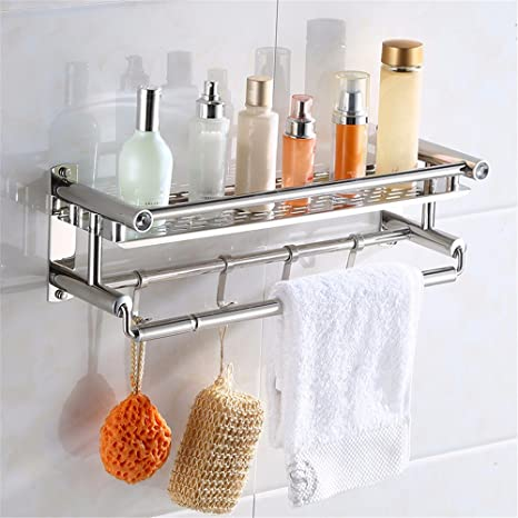 Acero inoxidable 304 baño toallero doble estante porta toallas baño Toalla de baño estante soporte hardware