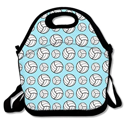 e9d2d2bd87 Image Unavailable. Image not available for. Color  Volleyball Sport Pattern  Lunch Bags ...