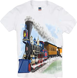 product image for Shirts That Go Little Boys' Steam Train and Coaches T-Shirt