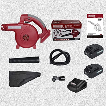 ASDFGHT Soplador de jardín - Soplador de Hojas eléctrico de 21V y aspiradora - Aspiradora y trituradora Ligera, Motor de Cobre Puro, Cambio de Velocidad Continuo (Size : 4.0A+2 Charge 1 Charge): Amazon.es: Hogar