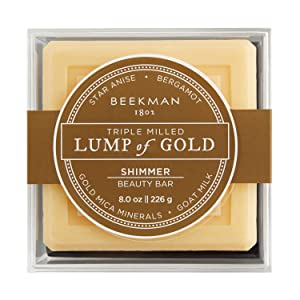 Beekman 1802 - Lump of Gold Bar Soap - Moisturizing Triple Milled Soap with Goat Milk - Naturally Rich in Lactic Acid & Vitamins, Great for All Skin Types - Cruelty-Free Bodycare - 8 oz