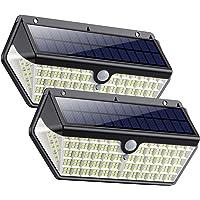SWEYE Luz Solar Exterior 266LED,【Nueva Versión-Super Brillante 2500lm/2200mAh】Lámpara Solar Jardín Impermeable IP65 con…