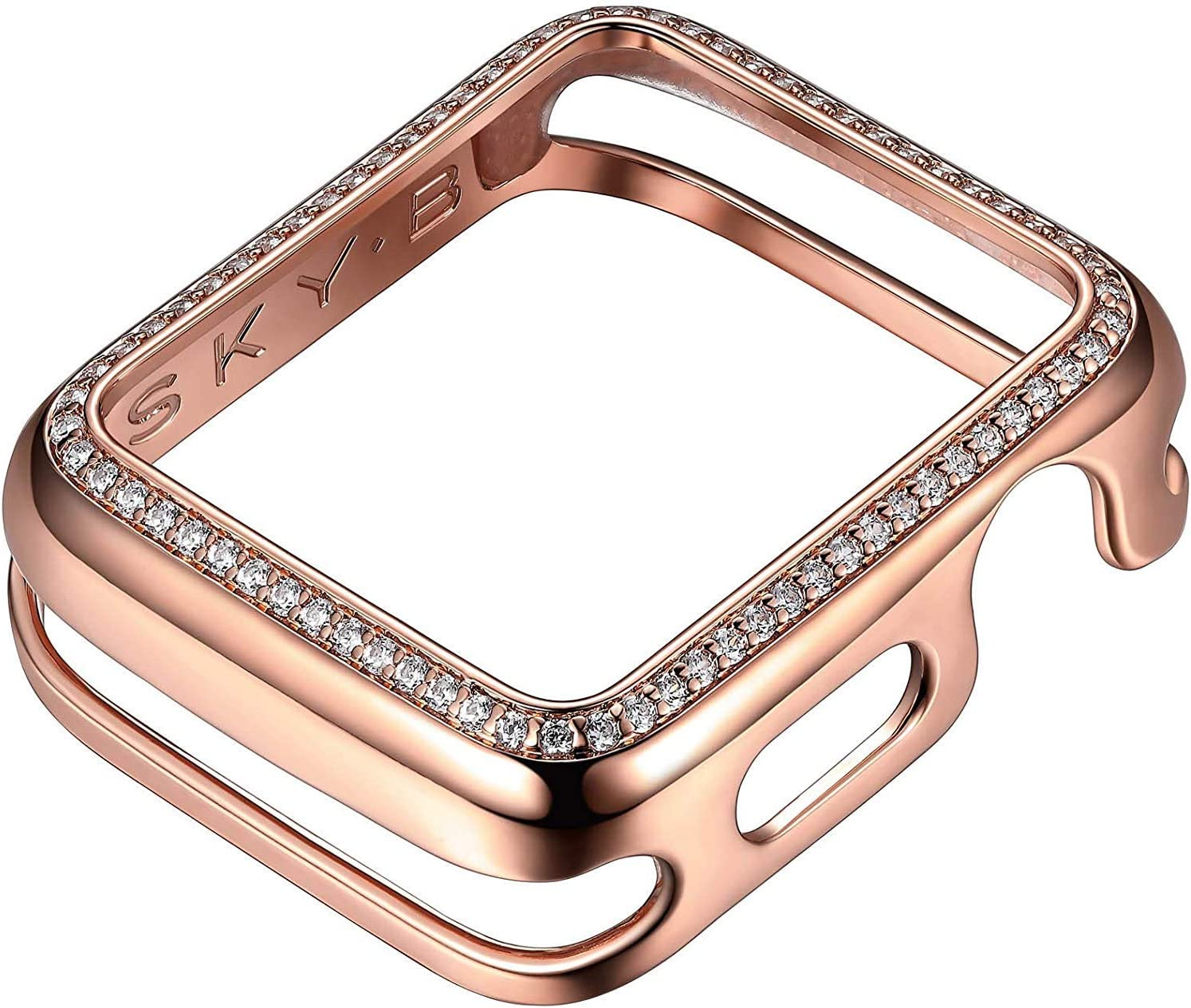 SKYB Halo Rose Gold Protective Jewelry Case for Apple Watch Series 1, 2, 3, 4, 5 Devices - 38mm