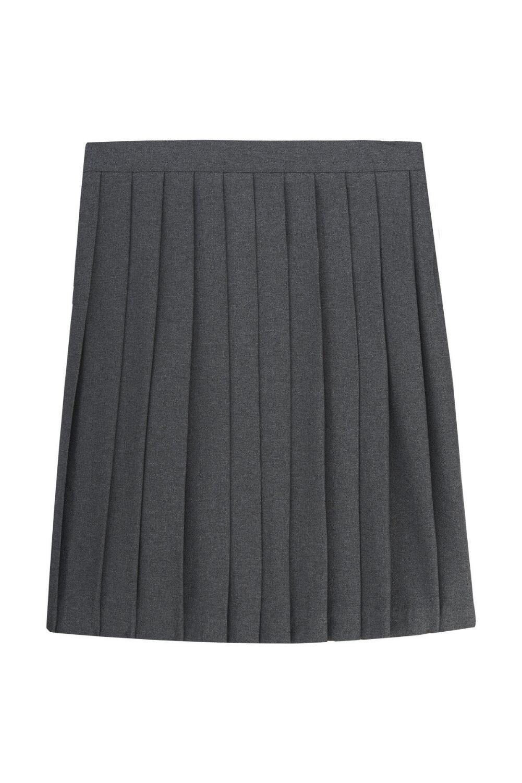 French Toast Big Girls' Pleated Skirt, Grey, 10