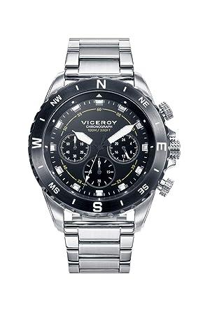 Viceroy Reloj Cronógrafo para Hombre de Cuarzo con Correa en Acero Inoxidable 471115-57: Amazon.es: Relojes