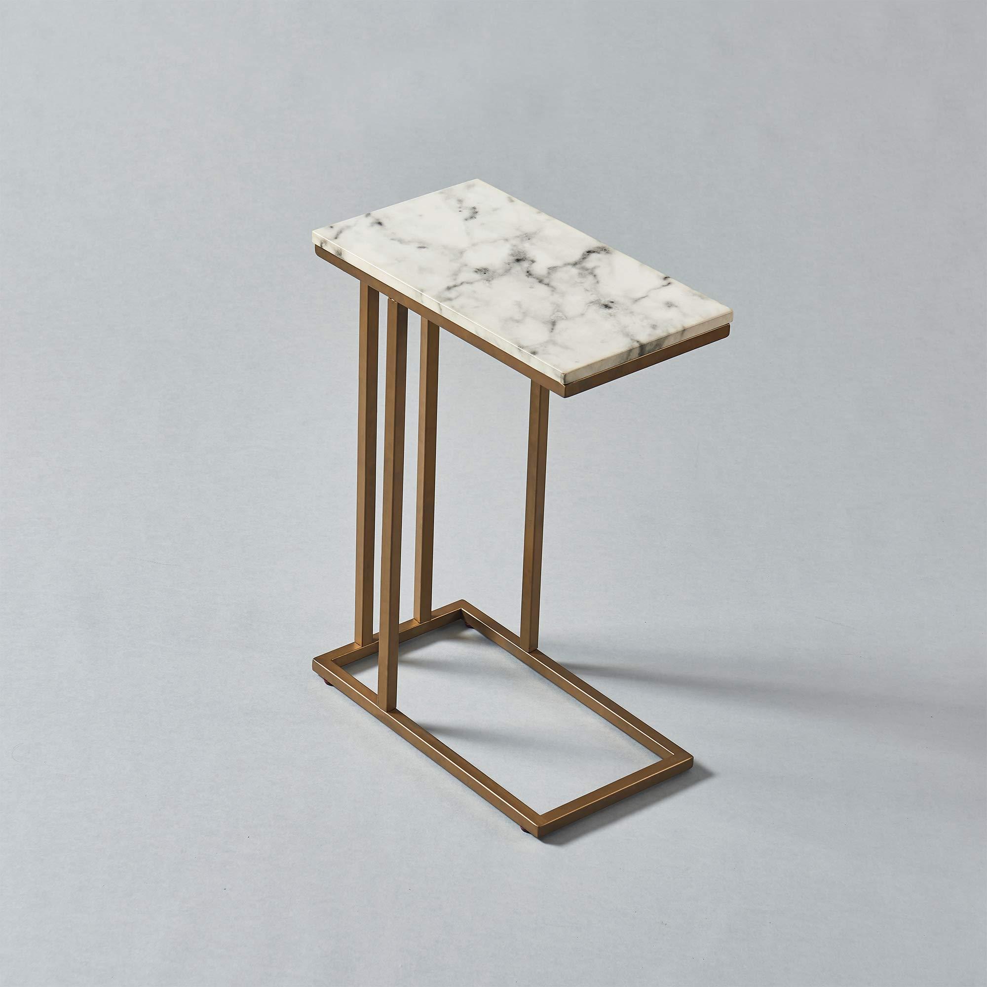 Versanora - Marmo C Shape Table - Faux Marble /Brass by Versanora (Image #14)