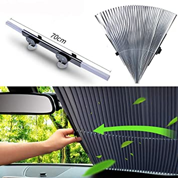 Universal Front Rear Window Windshield Sun Shade Shield Cover Visor Retractable