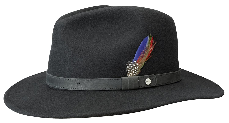16e1088236537 Stetson Yutan Wool Felt Fedora Hat at Amazon Men s Clothing store