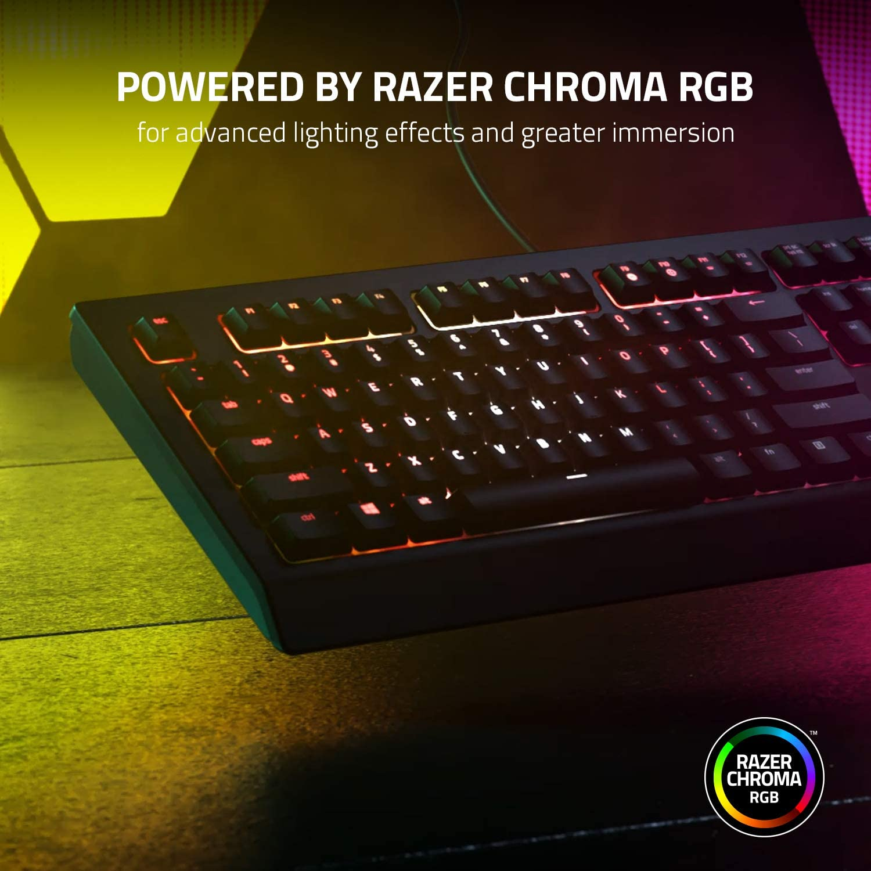 Razer Cynosa V2Teclado para juegos, Teclado Gaming de membrana, teclas multimedia, gestión de cables, totalmente programable, iluminación RGB Chroma, ...