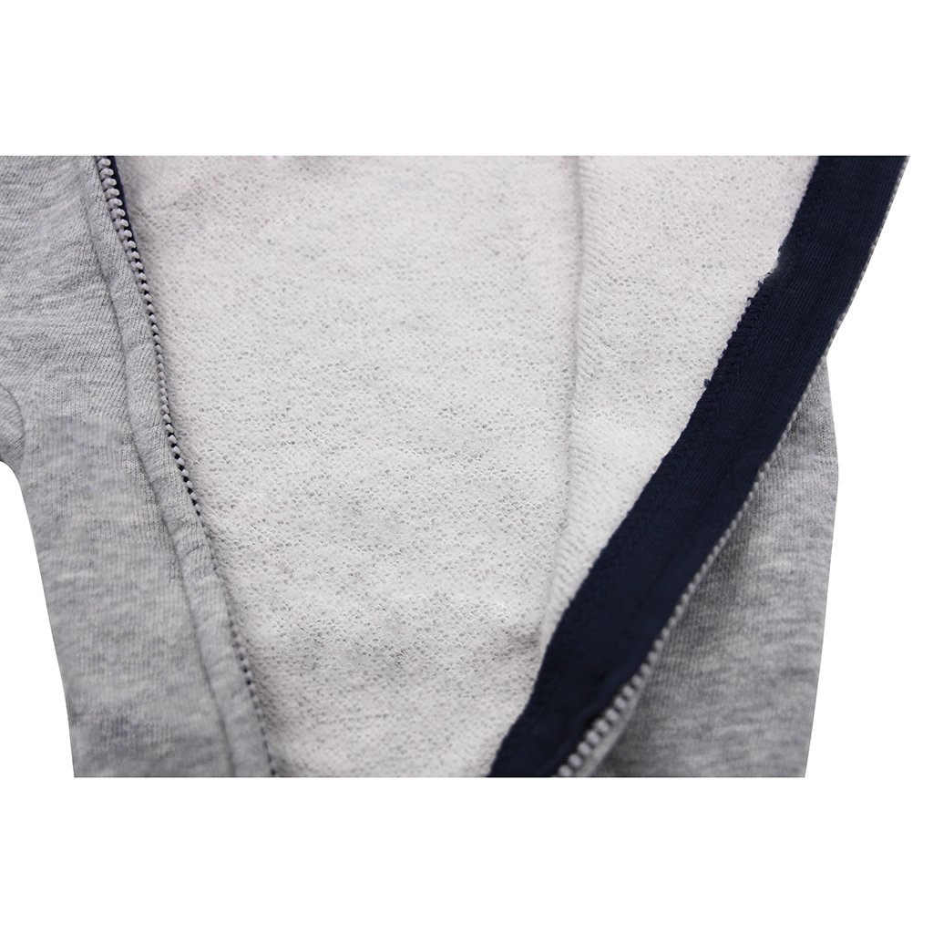 A-Gray 80 CM//6-9 Months Infant Hooded Romper Cotton Tracksuit Baby Long Sleeve Bodysuits Zipper Front GudeHome