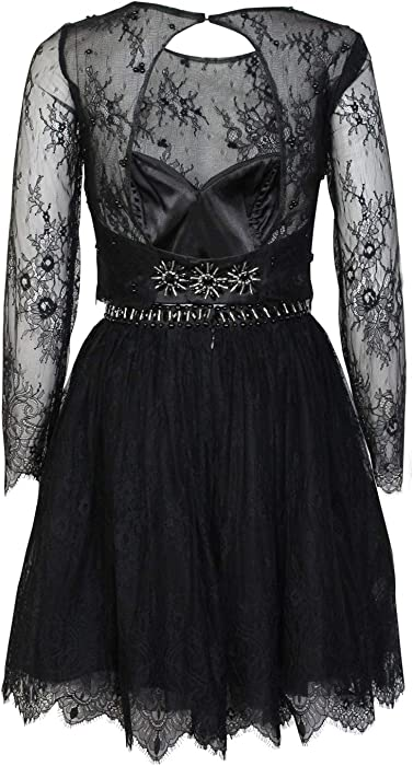 0ce328bd492 Nox Anabel Womens Two Piece Short Lace Dress Black Extra Small at ...