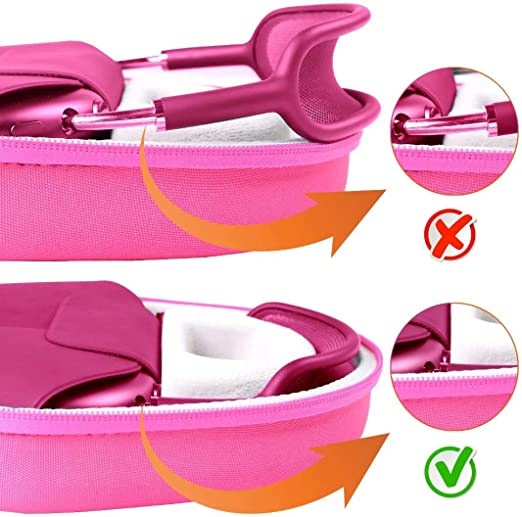 Co2crea Tasche Für Apple Airpods Max Headset Hülle Case Etui Tragetasche Rosa Elektronik