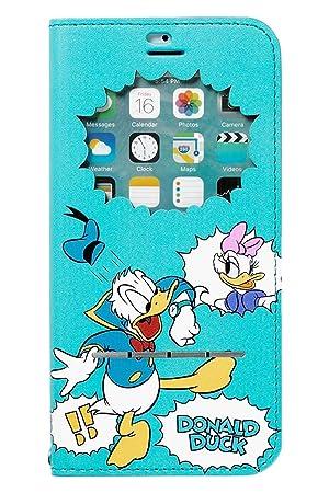 0050b1cb34 iPhone6s iPhone6 ケース 手帳型 ディズニー 窓付き キャラクター カバー カード収納/ドナルド