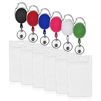 Amazon.com: 6 paquetes retráctiles para tarjetas de ...