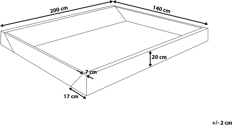 per Letti con materassi ad Acqua Beliani Struttura in Schiuma 140x200cm