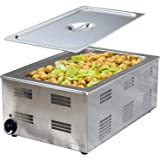 Tiger Chef Food Warmer - Full Size Countertop Food Warmers - Commercial Electric Steam Table for Buffet - Includes Steam…