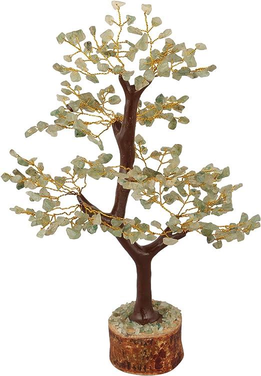 Lucky Tree!! AAA Natural Green Aventurine Jade Crystal Gem Tree